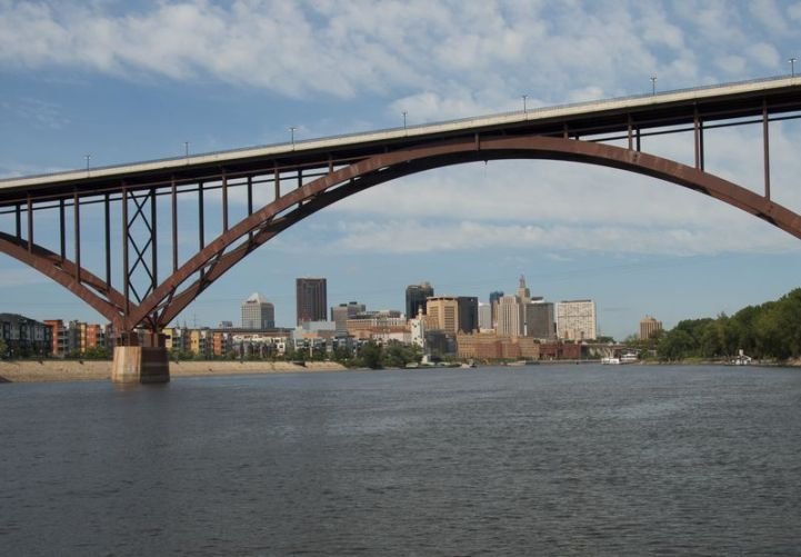 The High Bridge over the Mississippi River at St. Paul, MN