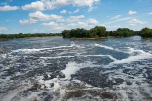 Mississippi River below Coon Rapids Dam, Brooklyn Park