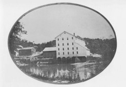 Flour mill; Rockport, IL (from A History of Gilgal Landing and Rockport, Illinois)