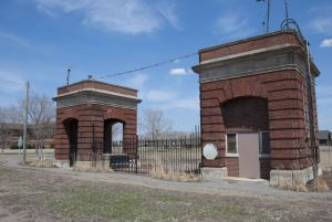Gates of former Armour plant
