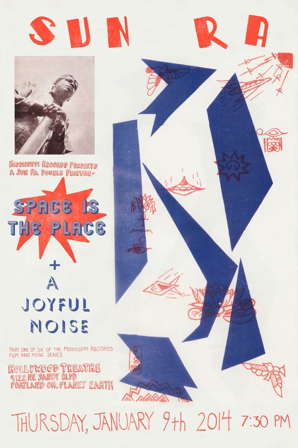 Sun Ra Space is the Place A Joyful Noise Postcard and Poster