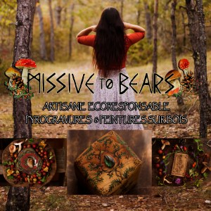 Logo de l'atelier de la Lettre aux ours - Missive to bears, artisanat français écoresponsable