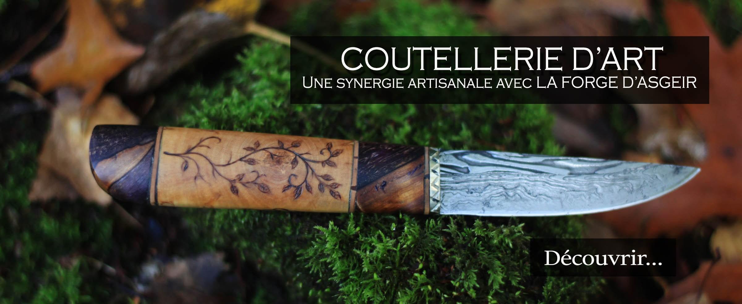 Coutellerie d'art par la forge d'Asgeir et l'atelier de la Lettre aux ours - Missive to Bears, artisanat français et écologique en Normandie