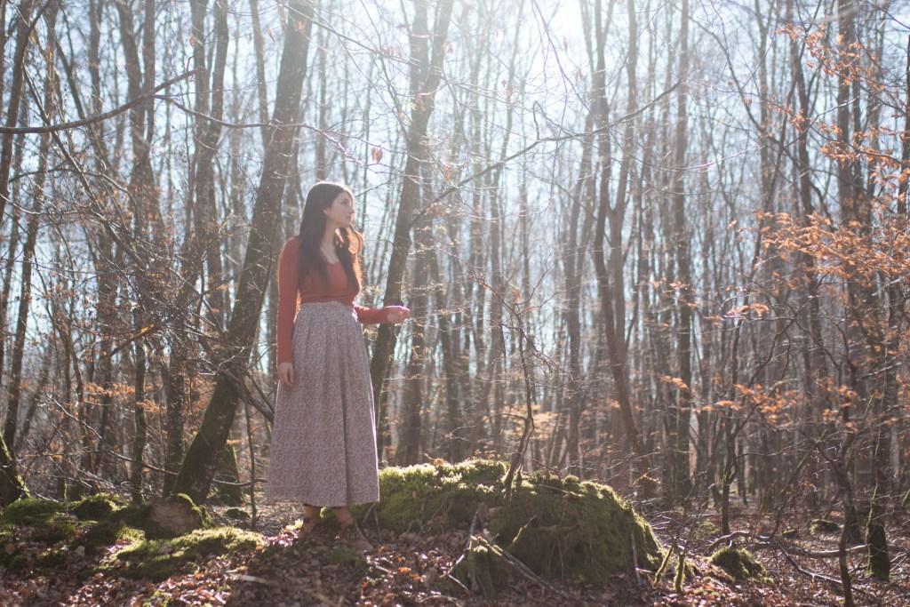 Lucie Braillon, atelier de la lettre aux ours, missive to bears, promenade en forêt, écologie