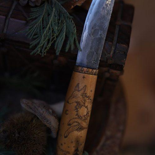 Couteau français, artisanat, forgeron, coutelier d'art, la forge d'Asgeir, écologique, lettre aux ours, missive to bears, artisanat francais, normandie