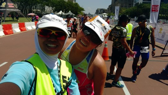 We haven't stopped fooling around each other everytime we meet on the course ! My multisports buddy from Singapore Teryn Tham, multiple Ironman finisher yet so cool and down to earth !