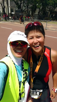 Another old tri buddy Pat Ee. Missing: Lynn Guan !!