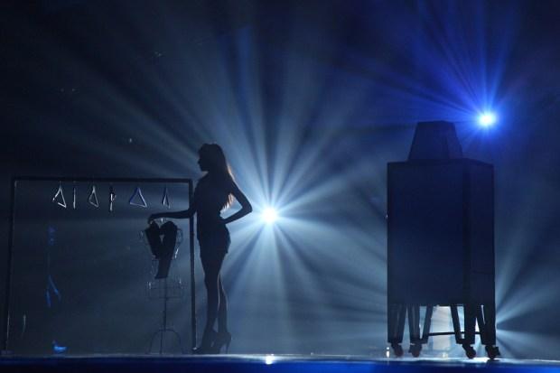 Katalin on stage