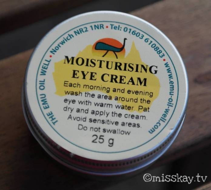Review Emu Oil Well Moisturising Eye Cream