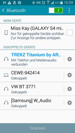 Trekz Titanium Koppelung Bluetooth