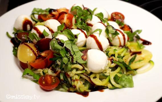 Zucchini Nudeln Tricolore