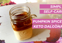 keto dalgona coffee recipe with pumpkin spice