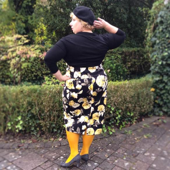 Miss Kittenheel vintage plus size style autumn rose