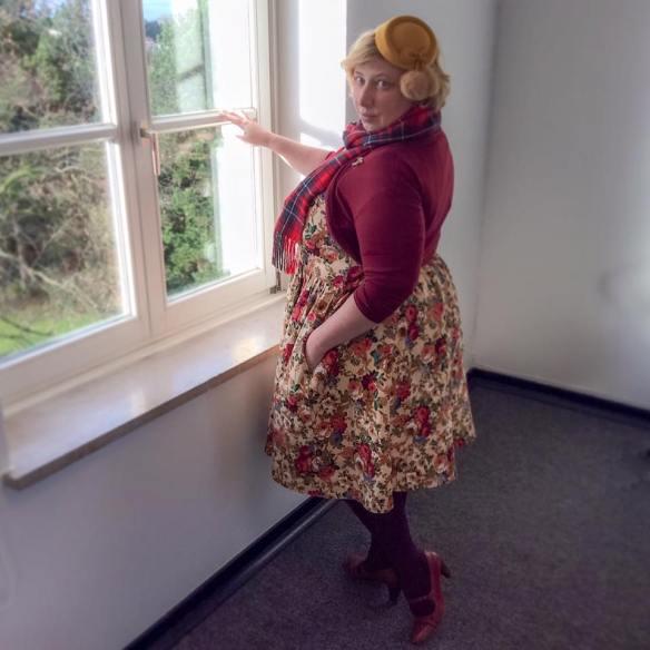 Miss Kittenheel vintage plus size style Thanksgiving