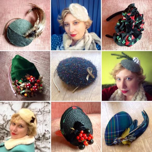 misskittenheel vintage curvy-plussize-diyyourcloset fascinator 2015 hat
