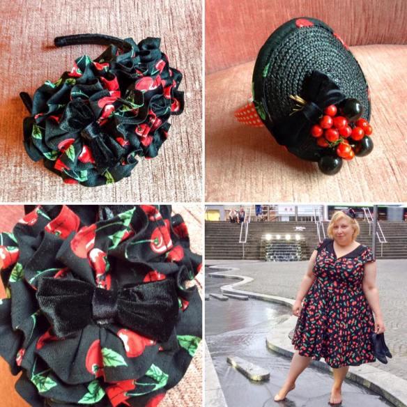 misskittenheel vintage curvy-plussize diyyourcloset fascinator 2015 hat cherry hellbunny