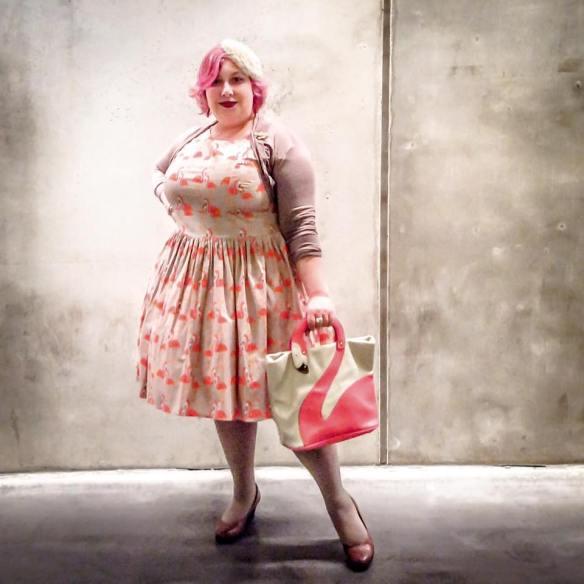 misskittenheel vintage curvy-plussize rockabilly flamingos