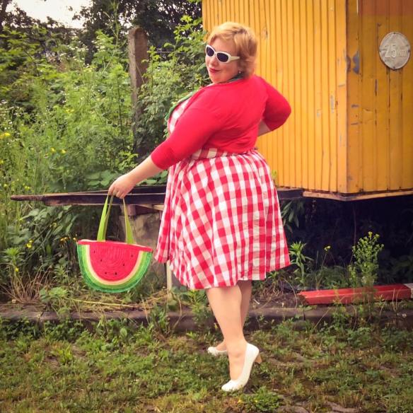 misskittenheel vintage plussize pinup germancurves roadtrip lindybop red check souvenirs 04