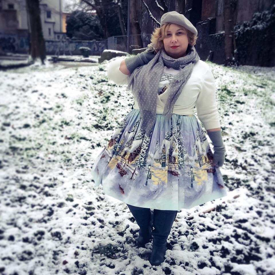 010e62346e Dress  Veronique in Winterwonderland by Bernie Dexter Cardie  Favourite  Cropped Cardigan by Boden