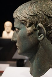 Head of Augustus and bust of Sophocles in the background