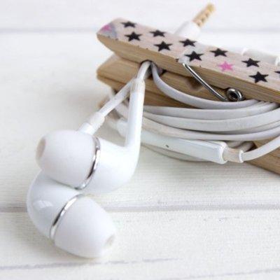 DIY   Kopfhörer-Klammer: nie mehr Kabelsalat in der Handtasche