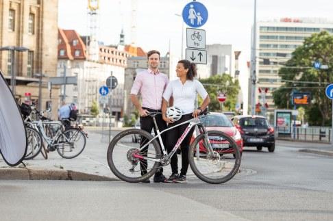 Fahrrad Innenstadt Leipzig, Gründerpaar