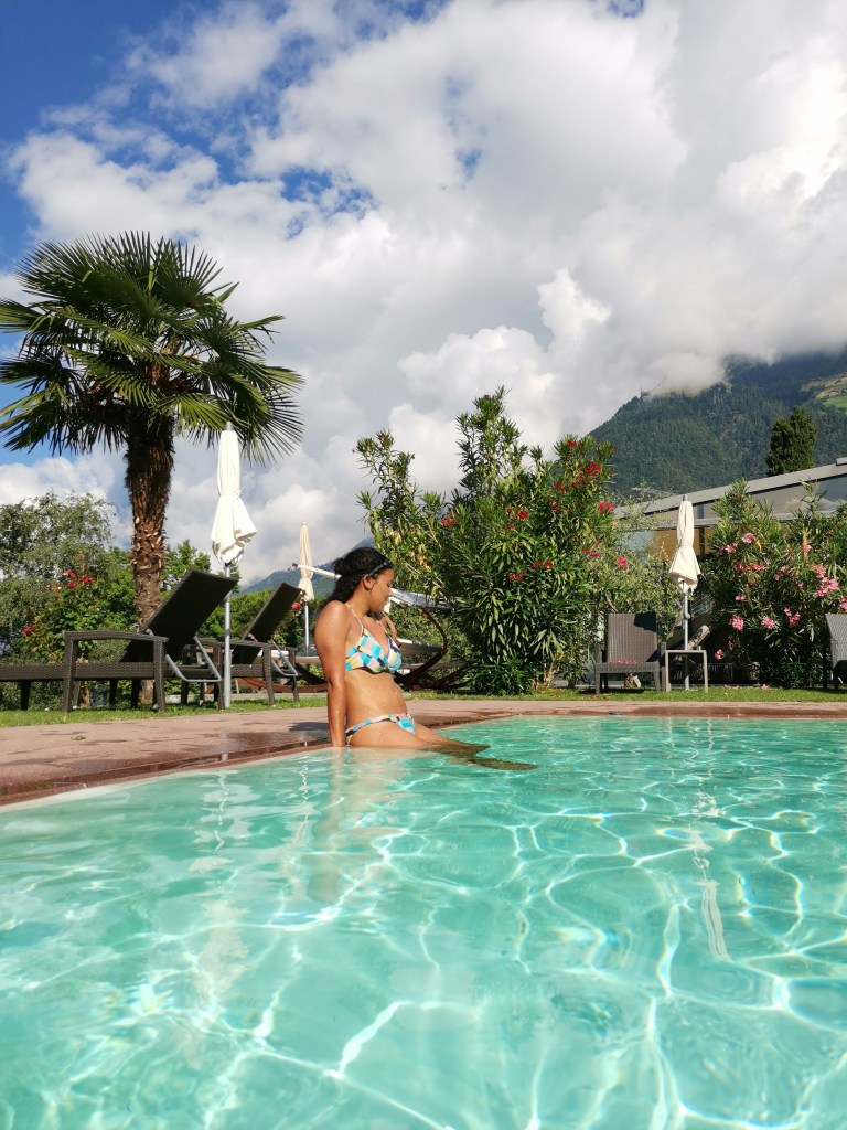 Der Pool des Hotel Sonnenhang
