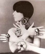 Op art jewelry