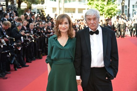"Dutch director Paul Verhoeven and French actress Isabelle Huppertor for the movie ""Elle"""