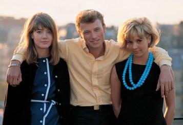 Françoise Hardy, Johny Hallyday and Sylvie Vartan