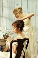 Keira Knightley as Elizabeth Bennet and Rosamund Pike as Jane Bennet