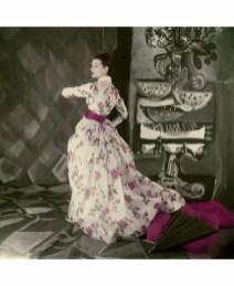anne-gunning-wearing-jacques-fath-evening-dress-1954-rose-print-evening-dress-of-satin-stripped-silk-organdie-c2a9-henry-clarke