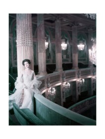 henry-clarke-model-in-white-tulle-dress-with-spangles-and-stole-in-the-theater-of-king-louis-xv-at-versailles