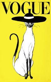 affiche-du-magazine-vogue-avec-une-chatte-de-distinction-oeuvre-de-christina-ung