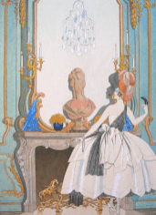 Mademoiselle Sorel en grand habit 1921