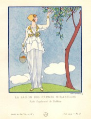 La saison des prunes mirabelles, Gazette du Bon Ton May 1914