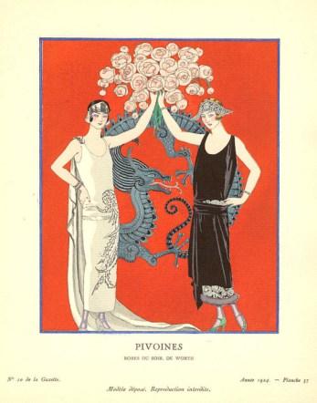 Pivoines, Gazette du Bon Ton 1924