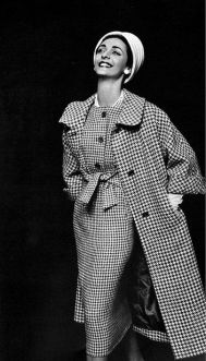 1957-kouka-denis-in-gray-and-white-houndstooth-dress-worn-under-matching-coat-by-maggy-rouff