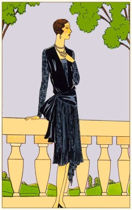 Old French Costume. Flapper Fash