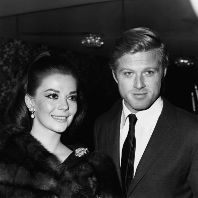 Actors Robert Redford and Natalie Wood attending the nomination announcements for the Golden Globe Awards, January 1966. (Photo by Max B. Miller/Fotos International/Archive Photos/Getty Images)