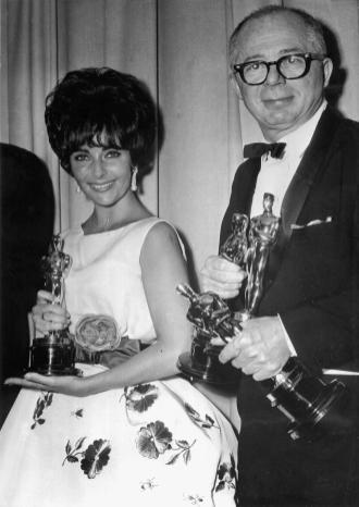 Elizabeth Taylor and Billy Wilder