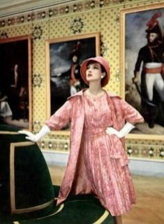 Rose Marie in Christian Dior at Château de Versailles 1959