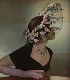 Hat by Rose Valois and dress by Jeanne Lafaurie 1949