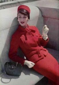 Jean Patou slim suit 1957