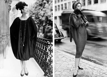 The sack dress by Givenchy and the sack dress by Balenciaga