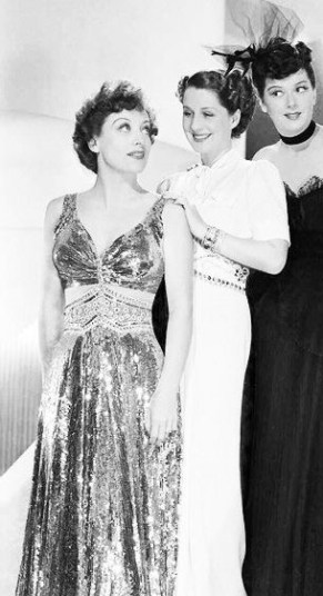 "Joan Crawford, Norma Shearer and Rosalind Russel in ""The women"""