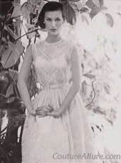Pink and white checked cotton dress 1956