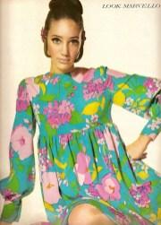 1960s silk dress by Marie McCarthy for Larry Aldrich