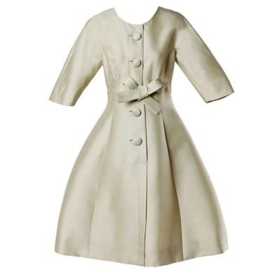 Green silk dress 1960s