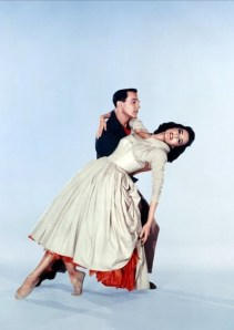"Gene Kelly and Cyd Charisse in ""Brigadoon"" 1954"